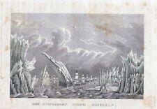 NORDCAP, Eine Durchfahrt durch Eisinseln-StSt. um 1837-8,5x13,5 cm
