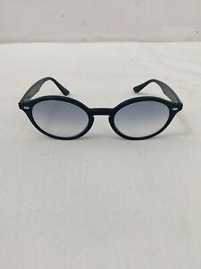 Ray-Ban RB4315 Oval Sunglasses Black Blue Lenses