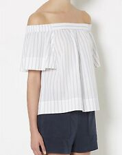 Witchery frozen shoulder pinstriped blouse - NWOT - 12