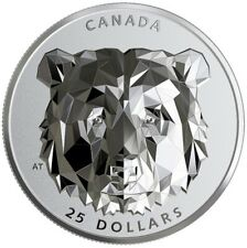 2019/2020 Canada 1oz Multifaceted Animal Head Grizzly Bear Ehr Silver Proof Coin