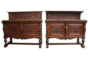 Rare Special Pair of French Renaissance Servers, 19th Century