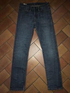 Jeans LEVI'S 513 W28 L32 bleu délavé Homme en Très Bon État