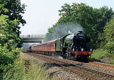 """Fathers Day Blank Card - Steam Train Engine """"The Flying Scotsman"""" FREE 1st Post"""