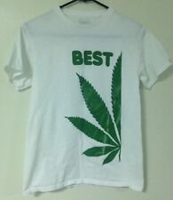 Spencer's Adult Best Weed T-Shirt White S Small Pot Ganja Bud Trees Marijuana