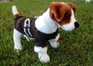 Dog Puppy Jacket - Tiny & Small Dogs - Little Barkers - Brown Black - M L XL