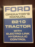 Ford 8210 Tractor Operators Manual Owners Manual