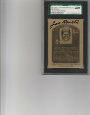 1982 hall of fame metallic joe sewell autograph jsa authentic