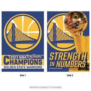 2017 NBA Champions Golden State Warriors 28x40 Double Sided Banner