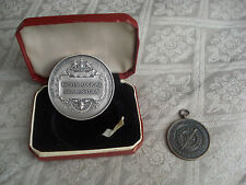Set of two Original Medallions Medals awarded to C.A. Fletcher - Collectable