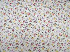 Cottage Garden Rosa Fiore in Policotone Stampa Abito Craft Tessuto Venduto da 25M Rotolo
