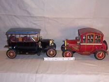 2 Vintage 1950 Battery Ford Model T Tin Toy Car Truck  Sunrise Toys? Japan Large