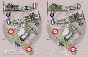 """[ FFSMC Productions] Decals 1/32 Spad XIII Spa 48 """" Sings And Combat """""""