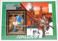 MADAGASCAR MALAGASY 1989 Block 123 A Soccer WC 1990 Italy Fußball Football MNH