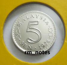 "MALAYSIA  5sen coin 1978 Parliament series ""BU"""