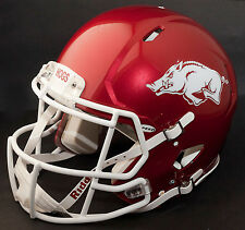 ARKANSAS RAZORBACKS Riddell Revolution SPEED Football Helmet (METALLIC PEARL)