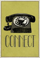 Connect Retro Telephone Player Art Poster Print - 13x19