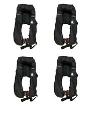 4 x Ocean Passage Automatic Offshore Lifejacket With Sprayhood - NEW