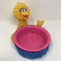 Applause Big Bird Bowl Jim Henson 1996 Vintage Sesame Street Blue Pink Yellow