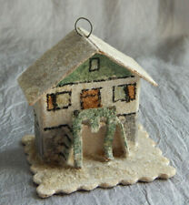Vintage Christmas Ornament Cardboard House Czech  #025