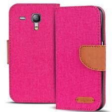 Handy Tasche Samsung Galaxy S3 Mini Book Case Hülle Klapphülle Flip Cover Pink