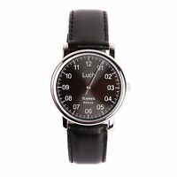 One Hand Luch Mechanical Wristwatch. Single Hand Classic Black 77471763 ENG