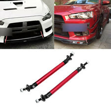 Adjustable Universal Front Rear Bumper Lip Splitter Strut Brace Rod Support Bar