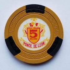 New listing Vintage $5 Casino Chip, Ponce De Leon, Dorado, Puerto Rico, Mustard