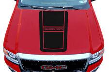 Custom Vinyl Graphics Decal Wrap Kit for 14-17 GMC Sierra Truck Hood BLACKOUT V2