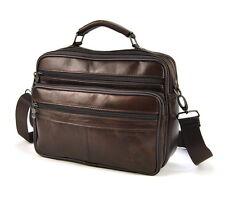 Men's Genuine Leather Shoulder Crossbody Briefcase bag Satchel Business handbag
