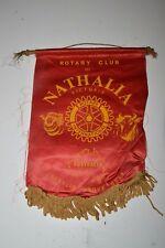 Vintage NATHALIA Victoria Australia Rotary Club International Wall Banner Flag