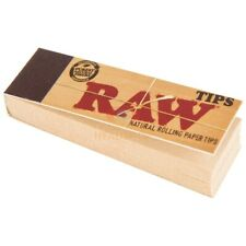 Raw Filter Tips Rolling Papers (10 Booklets Of 50) Standard Size Vegan Rizla