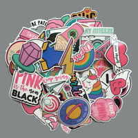 60pcs Vinyl Anime Cute Pink Stickers Bomb Decals Skateboard Car Luggage Laptop
