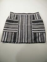 BNWT WOMENS NEXT GREY STRIPED SOFT WOOL STYLE SHORT A-LINE SKIRT UK 18 RRP £32