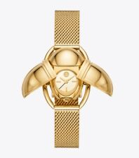 NWT Tory Burch SCARAB WATCH GOLD TONE Limited Edition $295 TBW5351