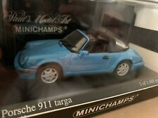 RARE MINICHAMPS 1/43 PORSCHE 911 TARGA 1991 BLUE NEW BOXED 1 OF 1488