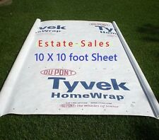 10ft X 10ft Tyvek Homewrap Ground Sheet Tarp Tent Footprint w/  Anchor Loops