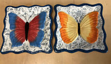 Mww Market Small Butterfly Bread Side Plates - Set of 2