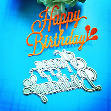 Happy Birthday DIY Paper Template Die Cut Embossing Machines Cutting Mould Tool