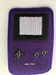 Iron-on / Sew-on Patch - Nintendo Game Boy Color - Grape Purple 6.9 x 4.5cm