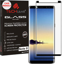 TECHGEAR Samsung Galaxy Note 8 CASE FRIENDLY 3D TEMPERED GLASS Screen Protector