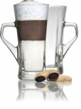 2 x Geo Tall Latte Coffee Hot Drink Glass 12oz / 33.5cl