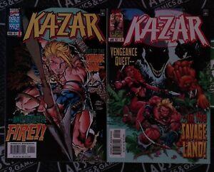 Ka-Zar #1-2 (1997) Marvel Comics NM+ 9.6 Savage Land X-Men Mark Waid Adam Kubert