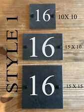 Rustic Ceramic Slate House Gate Sign Plaque Door Number Personalised Name Plate