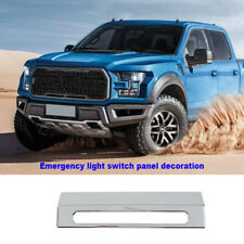 Emergency Light Lamp Warning Switch Cover Trim Decor Chrome For Ford F150 2015+