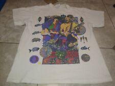 Vtg Bob Dylan Santana 1993 T-Shirt L Men Music Rock Pop World Tour 90S