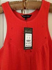 Women's New Look Size 8 Vest Top Burnt Orange Racer Back BNWT New With Tags
