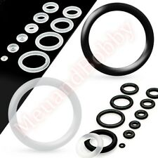 2 x Silicone O Ring Choose Colour Size Body Piercing Jewellery Spare Parts