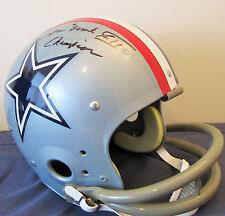 "Ed ""Too Tall"" Jones Signed Dallas Cowboys 1976 TK Full Size Suspension Helmet"