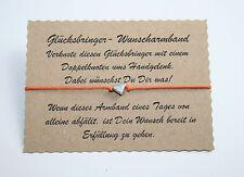 Wunscharmband make a wish Armband Freundschaft Liebe Glücksbringer Herz Orange