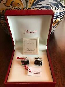 NEW BACCARAT B MANIA RED CRYSTAL .925 STERLING SILV